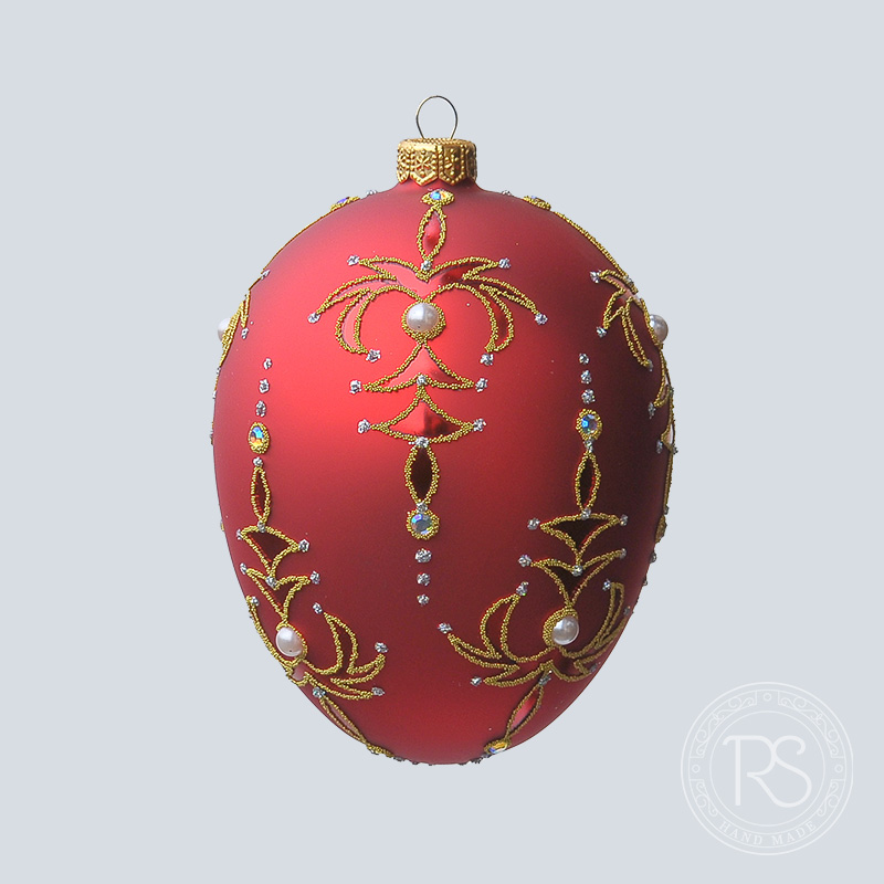 Faberge rot mit Fontanne