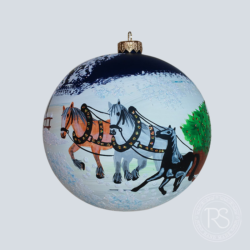 Horses with sleigh